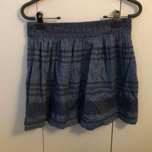 Chambray Skirt w/ Stitched Detail